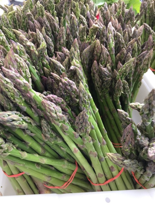 It's been a great year for asparagus. Fresh picked bunches are for sale in the farm stand.